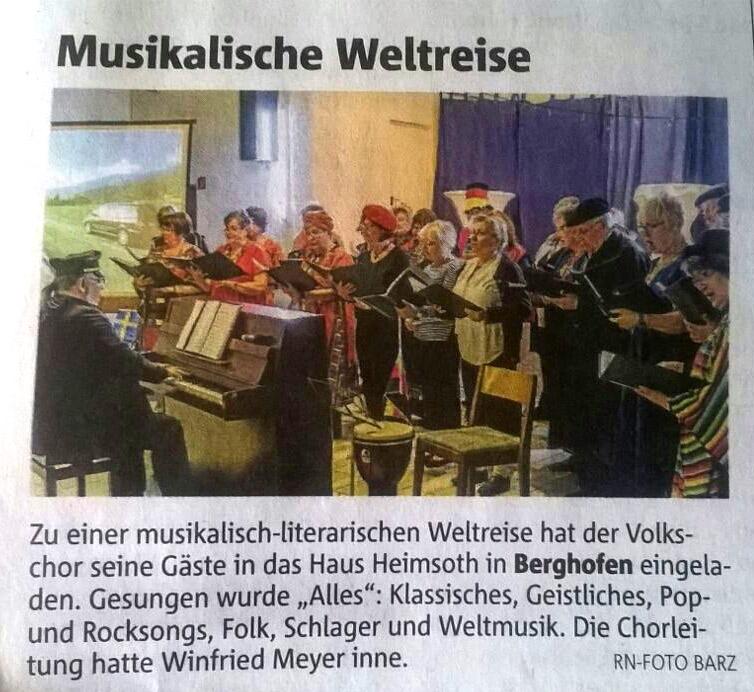 Musikalische Weltreise - RN 06.04.2017