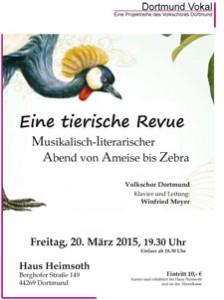 Eine tierische Revue - Musikalisch-literarischer Abend